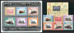 Y85 CUBA 1987 3142-3147 150th Anniversary Of The Cuban Railway. Steam Locomotives. Stamps On Stamps. Locomotives - Trains