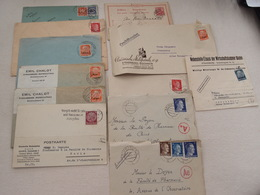 Lot De 12 Enveloppes Allemagne Reich Elsass Alsace - Allemagne