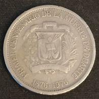 REPUBLIQUE DOMINICAINE - 25 CENTAVOS 1976 - KM 43 - Juan Pablo Duarte - Dominicaine