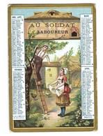 CALENDRIER PUBLICITAIRE De Poche ALMANACH AU SOLDAT Laboureur  1883 - Calendars