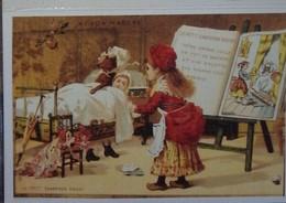 Petit Calendrier De Poche 2004 Illustration Conte Le Petit Chaperon Rouge - Représentation Chromo Au Bon Marché - Calendars