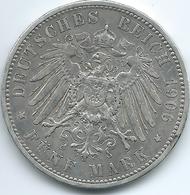 Prussia - Wilhelm II - 1906 A - 5 Mark - KM523 - Scarce - [ 2] 1871-1918: Deutsches Kaiserreich