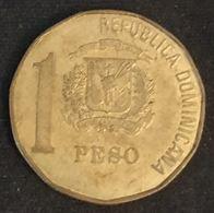 """REPUBLIQUE DOMINICAINE - 1 PESO 1992 - """"DUARTE"""" Sous Le Buste - KM 80.2 - Juan Pablo Duarte Y Diez - Dominicaine"""