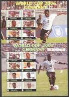 PK455 2006 GHANA SPORT FOOTBALL WORLD CUP 2006 GERMANY TEAM #3839-54 !!! MICHEL 19 EURO !!! 2KB MNH - Coupe Du Monde