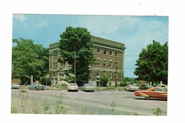 LINDEN, Tennessee, USA, Perry County Courthouse, 1950-60's Old Cars, Old Chrome Postcard - Autres