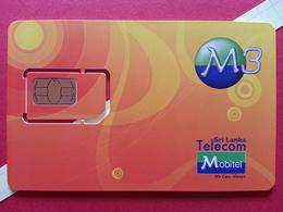SRI LANKA SIM GSM Mobiel Sri Lanka Telecom M3 Puce Découpée Numbers Back USIM RARE MINT (BH1219b - Sri Lanka (Ceylon)