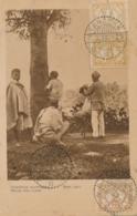 Nederlands Indië - 1926 - 2+3+7,5 Cent Cijfer Op Sepia Ansicht - Native Hair Cutter - Van LB TAROENA Naar Eisenberg / D - Indes Néerlandaises