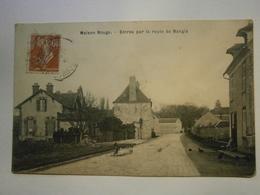 CPA,Maison, Rouge Entrée Route De Nangis,Haut De Seine 77,voyagée 1900,TBE,pas Commun - Autres Communes