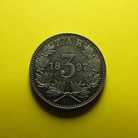 South Africa 3 Pence 1897 Silver - South Africa