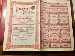 PORT  OF  PARÁ.  ---------Action  Ordinaire  De  100$ - Navy