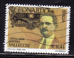 ITALIA REPUBBLICA ITALY REPUBLIC 2003 RIVISTA LEONARDO ATTIVITA' EDITORIALE DI ATTILIO VALLECCHI USATO USED OBLITERE' - 2001-10: Usati