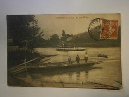 CPA,Guernes Le Pont Du Bac Seine Et Oise 78,,voyagée 1919,BE - Autres Communes