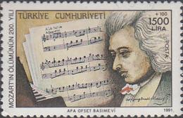 Turkey1991. Mozart. Michel 2928, MNH 27199 - Musique