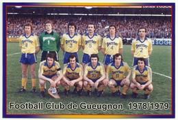 F C GUEUGNON 1978-1979 équipe De Football Team Perrier - Gueugnon