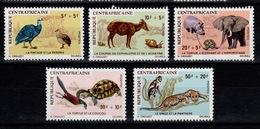 Centrafrique - YV 134 à 138 N** Complete Contes Africains, Animaux - Zentralafrik. Republik