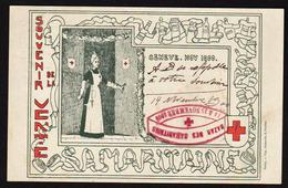 GENEVE: Souvenir De La Vente De La Samaritaine Des 14 Et 15 Novembre 1900, Cachet Croix Rouge Spécial Et............. - GE Genève