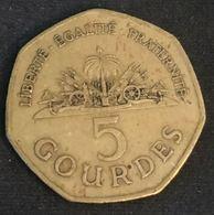 HAITI - 5 GOURDES 1995 - KM 156 - Haïti