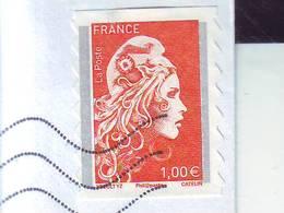 Marianne L'engagée   AA1600  Oblitéré Du 27.04 Sur Fragment Bande Phos.gauche - Adhésifs (autocollants)
