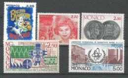 MONACO ANNEE 1987 N° 1596, 1599 à 1602 NEUF** - Ongebruikt