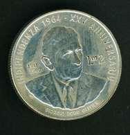 Malta 2 Lire, 1989 25° Anniversario - Indipendenza - Argento 925 - Peso Gr 17 Diametro Mm 30 - Malta