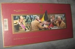 Blok 208** Z.M. Koning Albert II 20 Jaar Op De Troon 4350/51** Les 20 Ans De Règne De S.M. Le Roi Albert II - Blocks & Sheetlets 1962-....