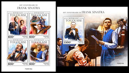 TOGO 2020 - Frank Sinatra, M/S + S/S. Official Issue. [TG200145] - Singers