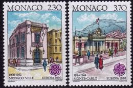 Monaco - Europa CEPT 1990 - Yvert Nr. 1724/1725 - Michel Nr. 1961/1962  ** - Europa-CEPT