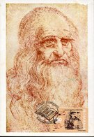 54050 Romania, Maximum  2002,  Selfportrait Of Leonardo Da Vinci, Autoritratto - Arte