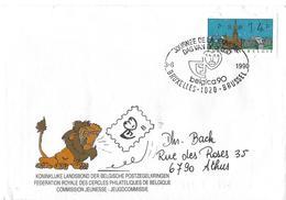 Belgique: ATM80 Sur Lettre  Belgica 90 - Postage Labels