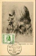 54051 Germany Ddr, Maximum 1952 Selfportrait Of Leonardo Da Vinci, Vintage Card , Mi-312 - Arte