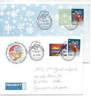 Finlande: 2 Lettres Avec Oblit . Du Pére Noël - Weihnachten