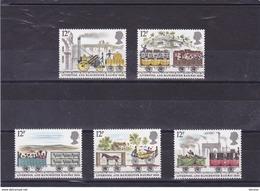 GB 1980 TRAINS Yvert 926-930 NEUF** MNH - 1952-.... (Elizabeth II)