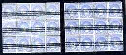 Espagne 1870  Yv N° 107  50 Mils  2 Blocs De 12  Timbres  Annulation 3 Barres   BL024 - 1870-72 Regencia