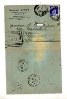 Lettre Cachet Villefranche + Retour - Postmark Collection (Covers)