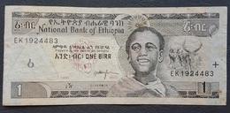 EM0407 - Ethiopia 1 Birr Banknote 2003 #EK1924488 P.46c - Ethiopie