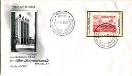 14151205 Belgium 19500421 Bx 25e Foire Bx FDC Cob BfPR118 - ....-1951