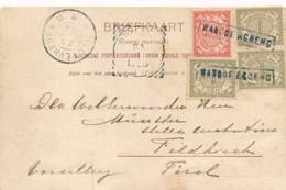 Nederlands Indië - 1906 - 8 Cent Cijfer Frankering Op Ansicht Van Halte RANDOEAGOENG Naar Feldkirch / Österreich - Indes Néerlandaises