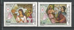 MONACO ANNEE 1988 N°1649 1650 NEUFS** NMH - Ongebruikt