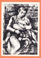 Mi003 GHETTO De VARSOVIE Hommage Martyrs Dessin Maurice MENDJISKY CpaWW2 Amour Dévorant Faim Soif Justice Abbé PIERRE - Weltkrieg 1939-45