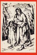 Mi189 GHETTO De VARSOVIE Hommage Martyrs Dessin Maurice MENDJISKY CpaWW2 Abbé PIERRE Civilisations Perissent - Weltkrieg 1939-45