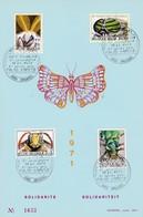 Feuillet Numéroté 1610 à 1613 Insectes Papillon ... - Panes