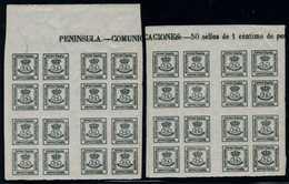 ESPAGNE 1877    Couronne  Yv 172   Blocs De 4   Vert Foncé  BL022 - 1875-1882 Regno: Alfonso XII