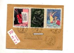 Lettre Recommandée Paris 09 Sur Dufy Apocalypse Vix - Postmark Collection (Covers)