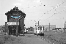 PHOTO  TRAM THUILLIES THUIN HAINAUT GARE  REPRO - Tram