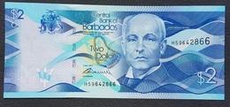 EM0407 - Barbados 2 Dollars Banknote 2013 #H59642866 P.73 UNC - Barbados (Barbuda)