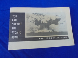 YOU CAN SURVIVE THE ATOMIC BOMB 1951 US AIR FORCE Guerre Froide Attaque Nucléaire - Documents