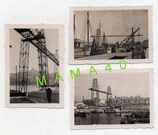 3 PHOTOS DE 1942 - 13 - MARSEILLE - PONT TRANSBORDEUR - PORT - BATEAUX - Lieux