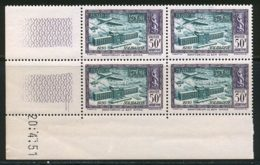 Maroc PA 1951 Yvert 83 ** TB Coin Date - Aéreo