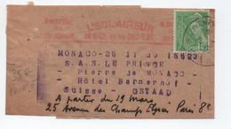 BANDE JOURNAL L'ECLAIREUR DE NICE (ALPES MARITIMES) Pour LE PRINCE PIERRE DE MONACO à GSTAAD (SUISSE) TàD JOURNAUX PP - Postmark Collection (Covers)