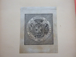 Ex-libris Héraldique Italien XVIIIème - COMES GASCHI A BURGETO ET VILLARODINO - Ex Libris